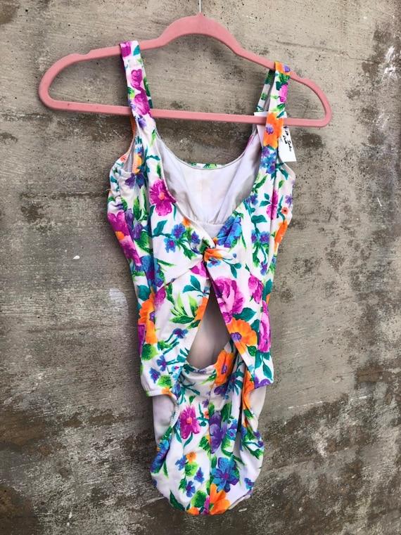 Floral 80s Swimsuit
