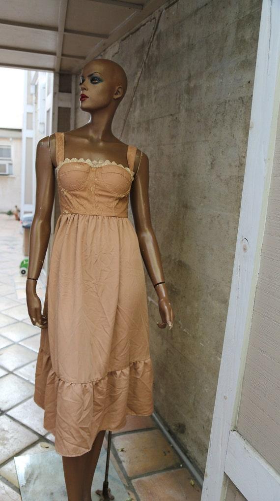 Nude Vintage Romantic Dress
