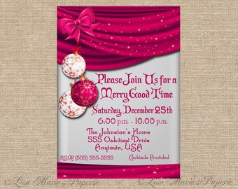 Christmas Party Invitation Handmade Digital Invite Christmas