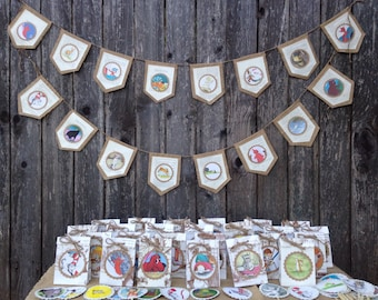 Children's book theme party package/burlap birthday decor