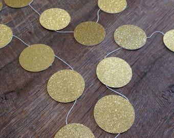 Gold Glittery Circle Garland