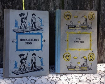 Vintage 1950s Copies of Mark Twain's Classics