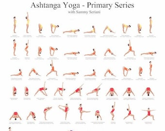 Ashtanga Yoga Poster Yoga Poster Ashtanga Poster Ashtanga Etsy