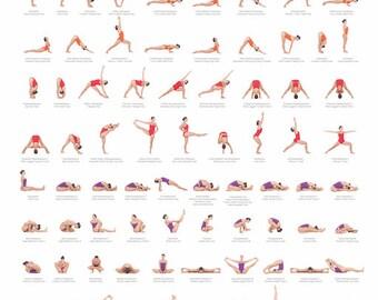 Ashtanga Yoga serie primaria Poster | Etsy