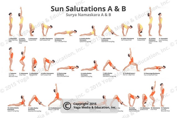 Sun Salutations A B Poster Of Yoga Poses