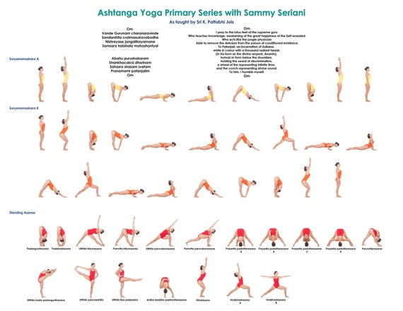 Yoga Ashtanga Primary Series Printable Pdf Etsy