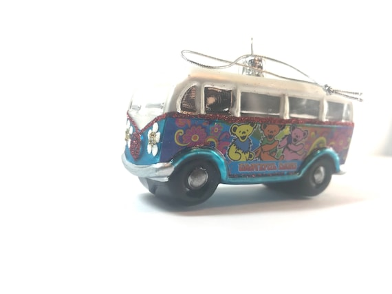 Officially Licensed Grateful Dead Dancing Bear Volkswagen Microbus Bus Christmas Ornament Bertha Skull and Roses Dead and Company JRAD