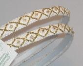 STEFANA Greek Wreaths White or Ivory Ancient Greek Style Gold Grecian Orthodox Greek Wedding Crowns / Tiaras / Stefana / Stephana