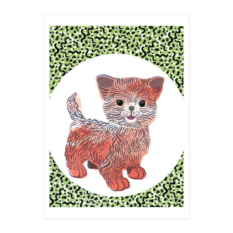 Kiddy Cat birth card image 0