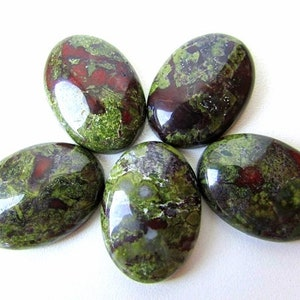 Natural African Bloodstone Oval Cabochons For Jewelry Making,34X23mm,27.40cts...@2964