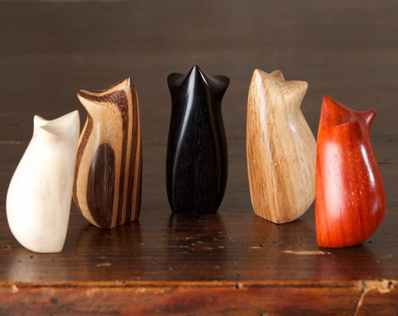 CARVED TO ORDER - Two-Way Tiny Mouse Sculpture, Choice of Wood, Hand Carved by Perry Lancaster