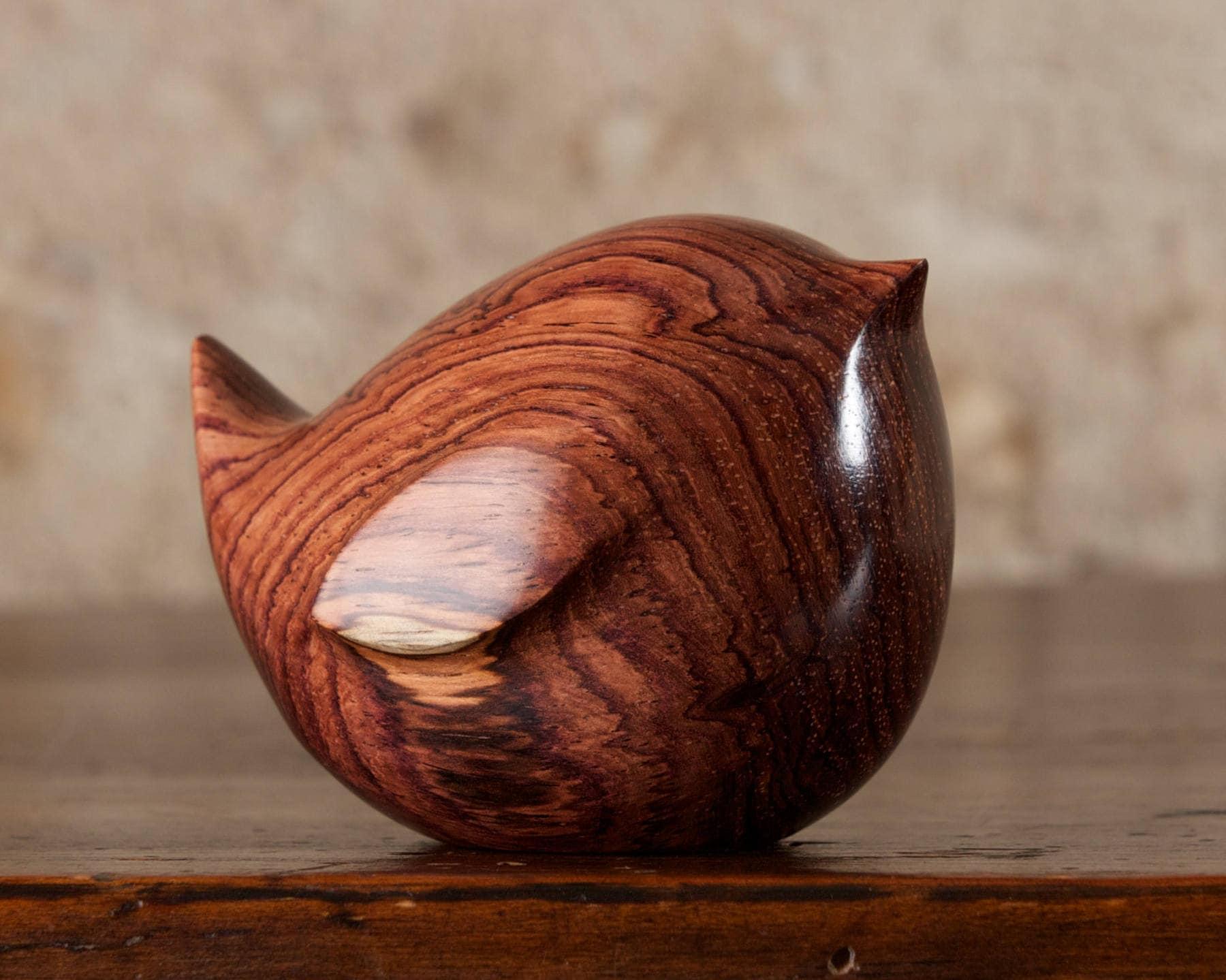 Fat Wooden Wren Carving, Bird Hand Carved Honduras ...