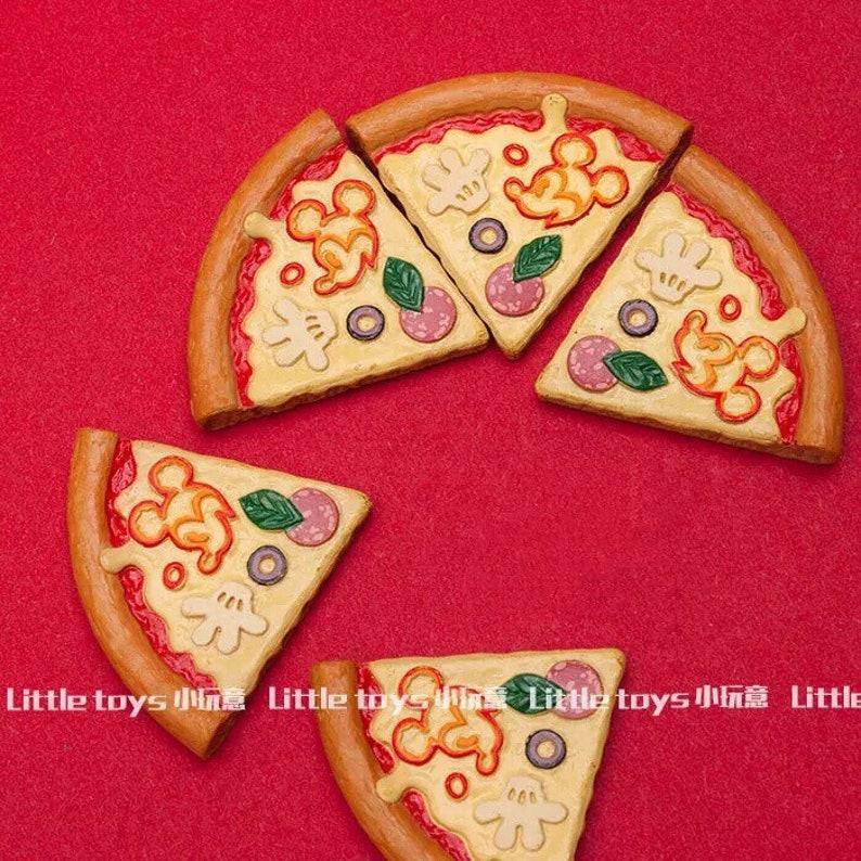 5pcs Mickey Pizza Slice Figure Charm Diy Accessories Etsy