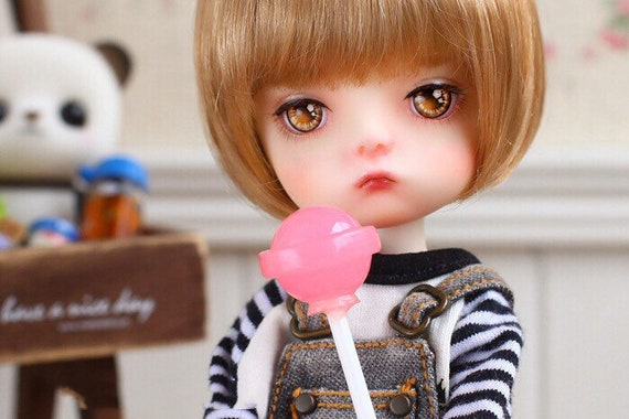 5Pcs Dollhouse Miniature Snacks Candy Lollipop Doll House Accessories Toys LE