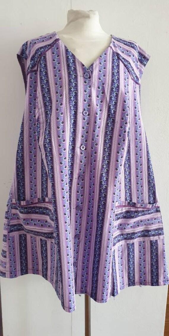 Vintage Tabard / Purple Tabard / Vintage Overall /
