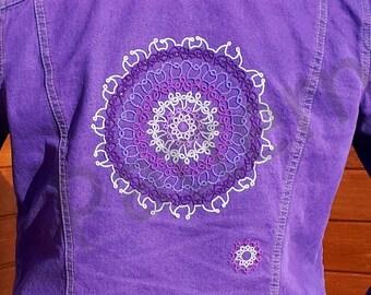 Tatting pattern purple sun