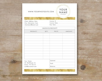 invoice template for photographers gold foil invoice form template photographer invoice electronic invoice template