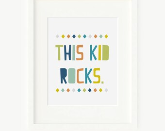 Printable kids Wall art - kid quote print wall decor poster - nursery printable wall art