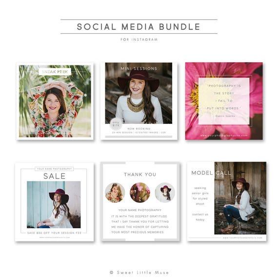 Social Media Marketing Bundle Photography Marketing Etsy