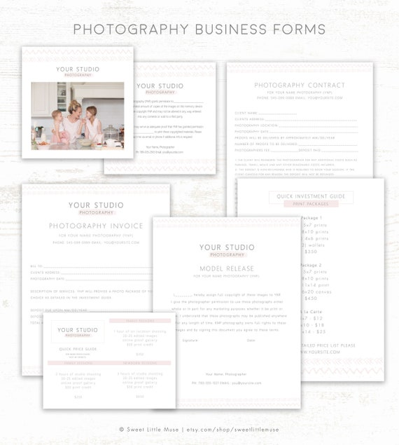 Photography business forms photography contract templates etsy image 0 wajeb Gallery