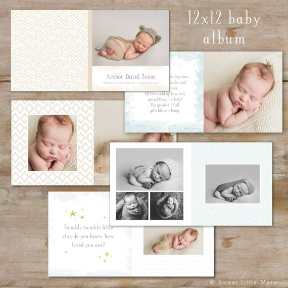 Baby Boy Photo Book Template Baby Album Template For Etsy