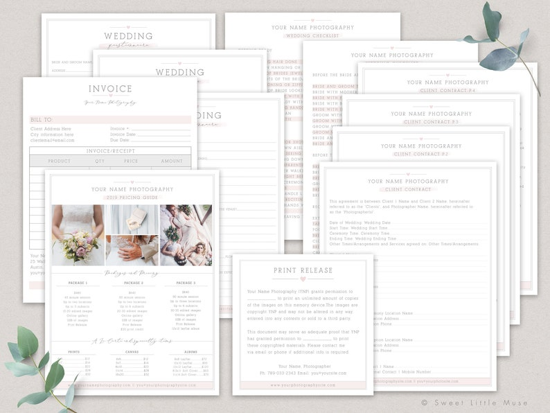 image regarding Business Forms Templates referred to as Marriage Images Enterprise Kinds - Pictures Company Variety Templates - Wedding day Images Agreement Templates for Photographers
