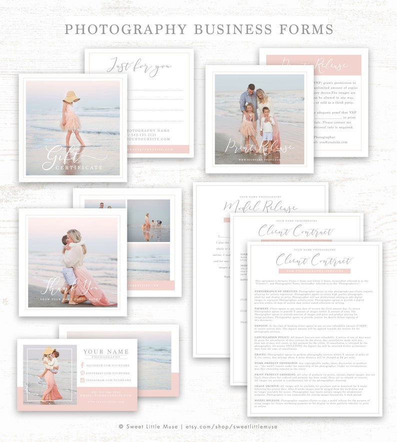 Photography Business Forms - Photography Form Templates - Photography  Contract Templates