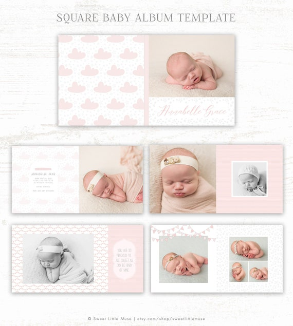 Baby Album Template For Photographers Baby Photo Book Etsy