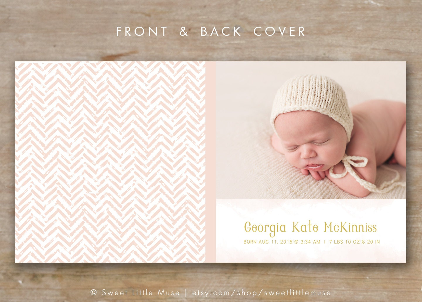 Photo Book Album Cover Template For Photographers Baby Album Etsy