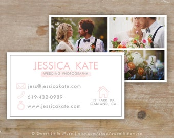 Business Card Template - layered business card - wedding photography