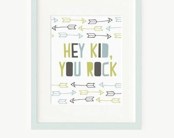 Printable kids Wall art - typography print wall decor poster - nursery printable wall art