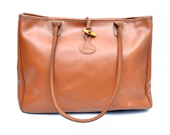 8c970557b055 Longchamp Roseau Leather Tote Shopper Bag - Authentic
