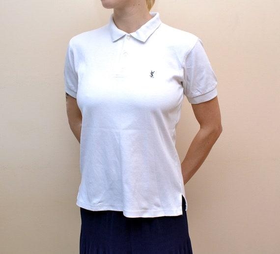 Rare Yves Saint Laurent Women Polo Shirt Signed Wi