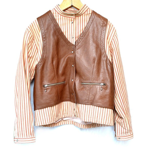 Giorgio Armani Men's Leather Jacket - IT 46 - Vint