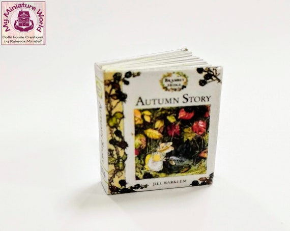 1:12 SCALE MINIATURE BOOK SUMMER STORY BRAMBLY HEDGE DOLLHOUSE