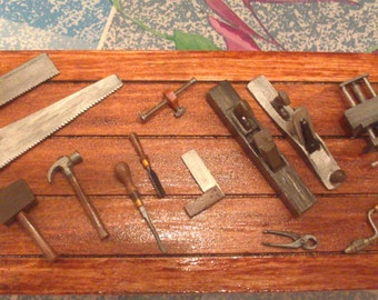 12th Scale dolls house  Carpenter Tool Set