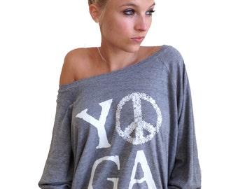 YOGA Peace Long-Sleeve Slouch Pullover