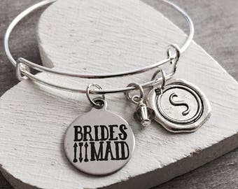 Bridesmaid, Bridesmaid Jewelry, Will you be my, Bridesmaid Bracelet, Customized, Personalized, Silver Bracelet, Charm Bracelet, Gifts for