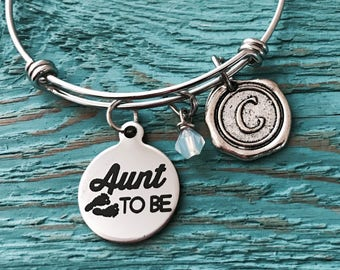 Aunt to be, promoted to, Aunt, pregnancy announcement, Aunt Keepsake, Aunt Gift, Aunt Bracelet, Silver Bracelet, Gifts for, Silver Jewelry