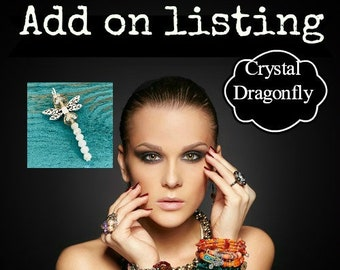 Dragonfly, ADD-ON CHARM, Crystal Dragonfly, Memorial, This is to add to a current order we are making for you
