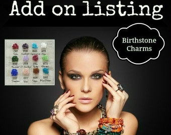 ADD-ON CHARM, Additional, Drop Charms, Birthstone Charm, Crystal charm, 6mm Crystal, This is to add to a current order we are making for you