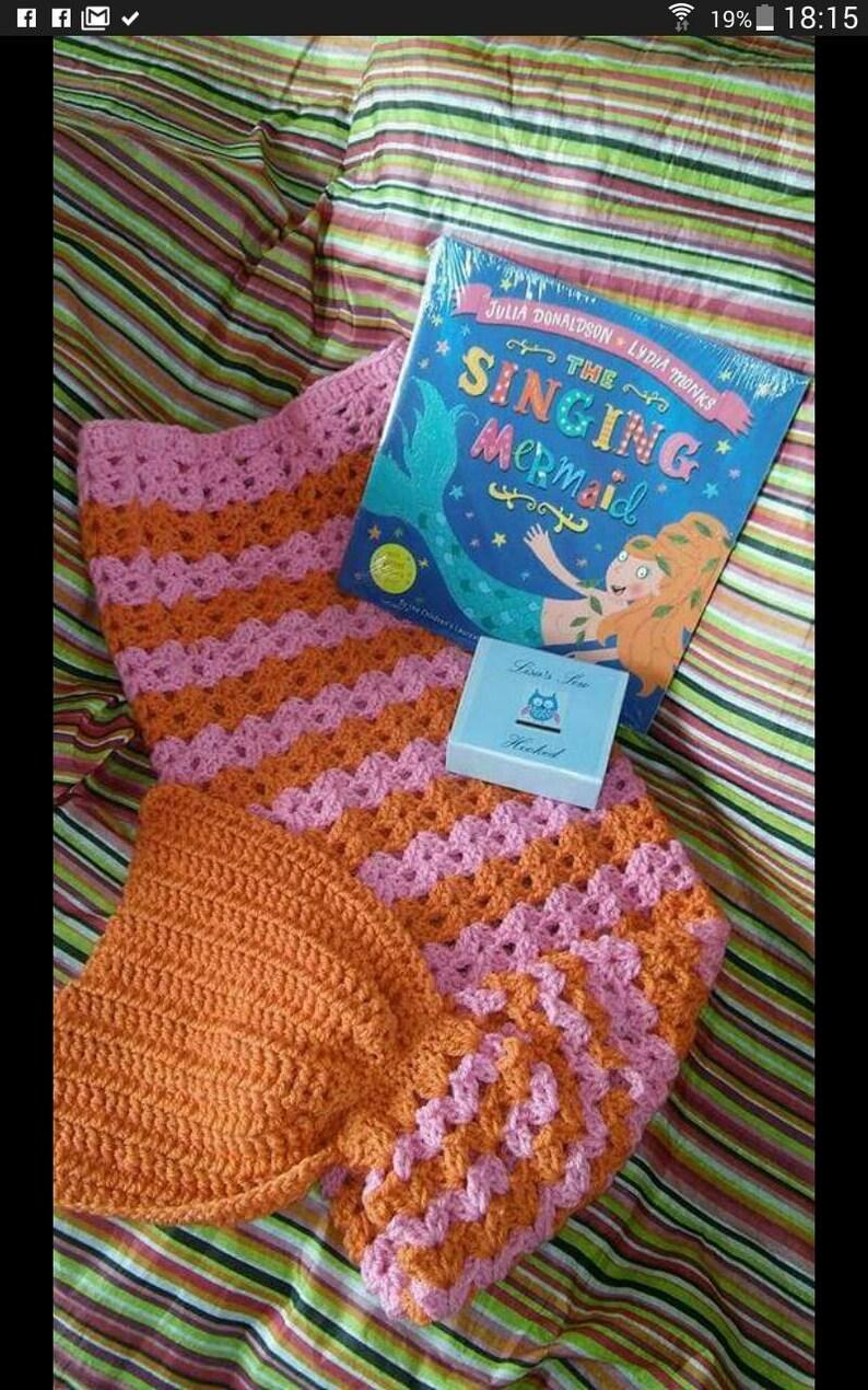 Mermaid Tail Mermaid Tail Blanket Crocheted Mermaid Fin Etsy