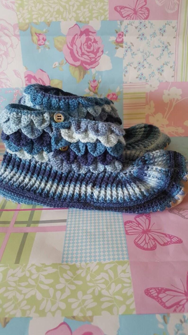Crochet Slippers With Soles Slippers Slippers Men Slipper Etsy