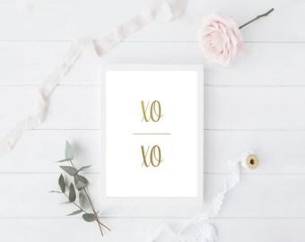 XOXO Foil Print - Valentine's Day Collection
