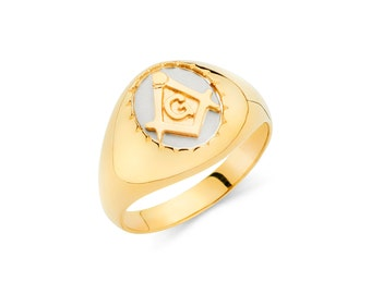 Gold mason ring   Etsy