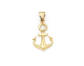 14K Yellow Gold Anchor Pendant, Anchor Necklace, Gold Anchor, Anchor Jewelry, Gold Pendant, Gold Jewelry, Anchorw
