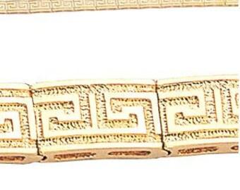 14K Yellow Gold Greek Key Bracelet, Greek Key Bracelet, Greek Bracelet, Gold Bracelet, Gold Jewelry, Greek Jewelry, Key Bracelet