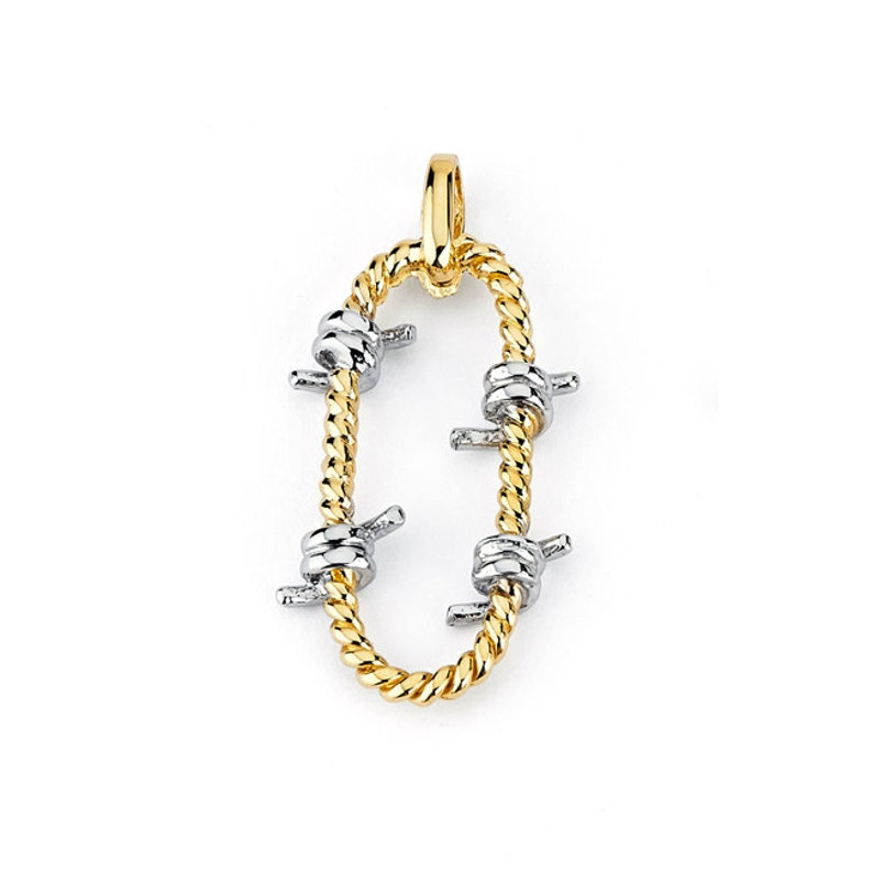 Dainty Jewelry Gold Pendant 14k Barbed Wire Pendant Barbed wire jewelry 14k Barbed Wire