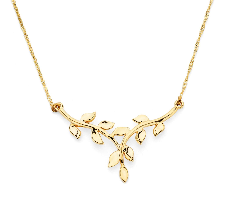 14K Solid Gold Leaf Necklace, 14K Solid Gold, Leaf Necklace, Leaf Design,  Leaf, Leaves, Gold Leaf, Leaf Jewelry, Gold Necklace, Gold