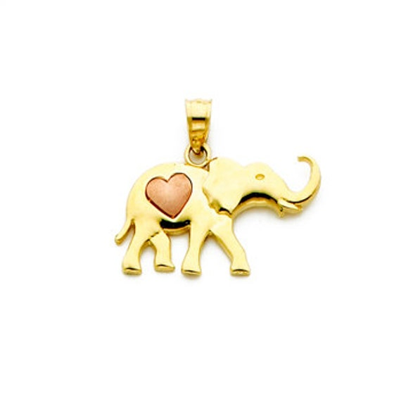 Elephant Pendant 10 Pcs 14x14mm Rose Gold Elephant Charm EP Lucky Charm Rose Gold Plated Findings ROSE38 Dainty Charms Elephant Charm